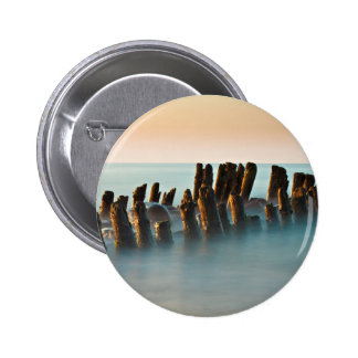 Groynes on the Baltic Sea coast Pinback Buttons