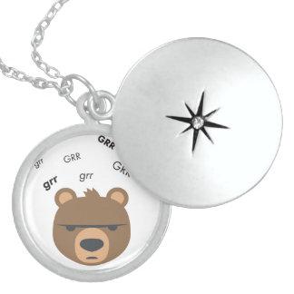 Grr Bear Cute Emoji Sterling Silver Necklace