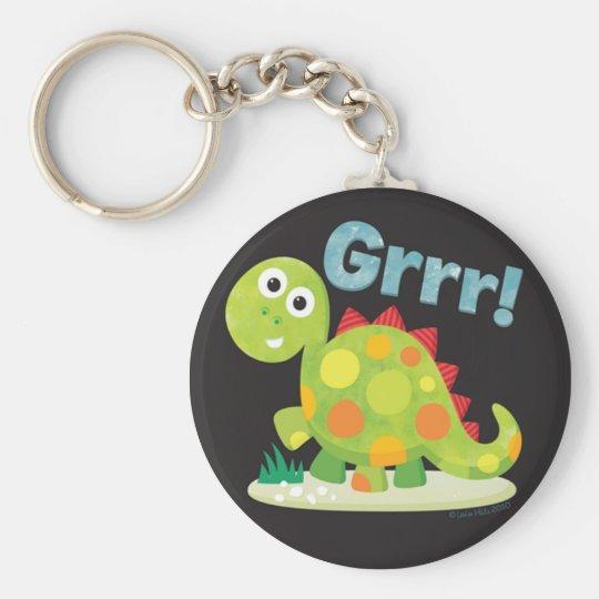 Grrr! Dinosaur Keychain