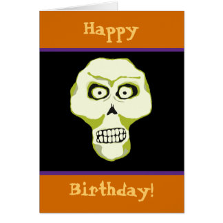 GRRR! Halloween Birthday Greeting Card
