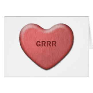 """Grrr"" Valentine Card"