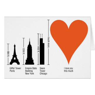 Grtz.net: How big is your love? Greeting Card