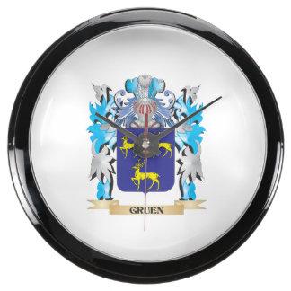 Gruen Coat of Arms - Family Crest Aquarium Clocks