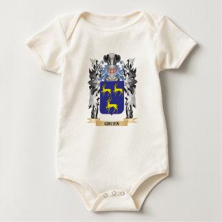 Gruen Coat of Arms - Family Crest Baby Bodysuits