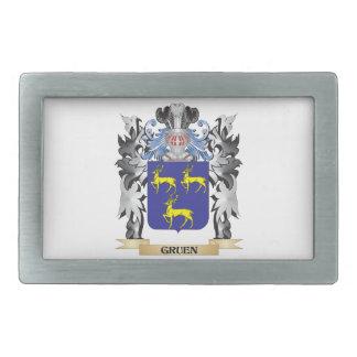 Gruen Coat of Arms - Family Crest Belt Buckles