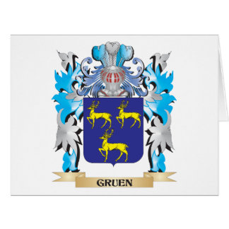Gruen Coat of Arms - Family Crest Greeting Cards