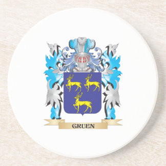 Gruen Coat of Arms - Family Crest Beverage Coaster