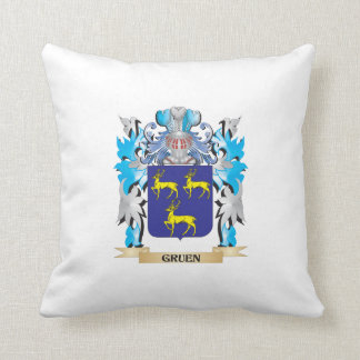 Gruen Coat of Arms - Family Crest Throw Pillow