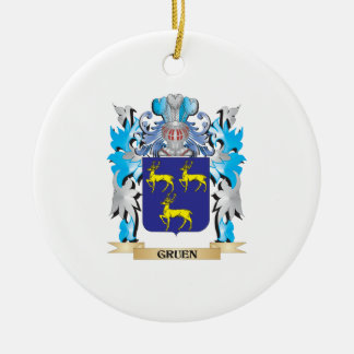 Gruen Coat of Arms - Family Crest Christmas Tree Ornaments