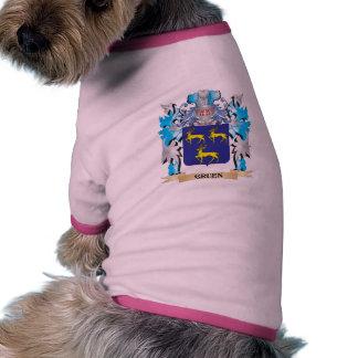 Gruen Coat of Arms - Family Crest Dog Clothing