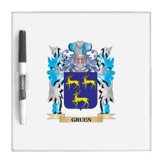 Gruen Coat of Arms - Family Crest Dry Erase Whiteboard