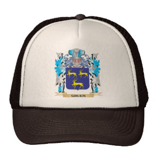 Gruen Coat of Arms - Family Crest Mesh Hats