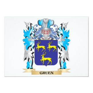 Gruen Coat of Arms - Family Crest Personalized Invite