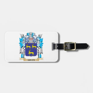Gruen Coat of Arms - Family Crest Bag Tag