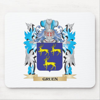 Gruen Coat of Arms - Family Crest Mouse Pad