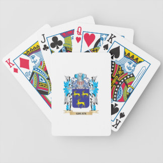 Gruen Coat of Arms - Family Crest Bicycle Playing Cards