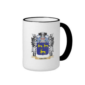 Gruen Coat of Arms - Family Crest Ringer Mug