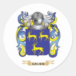 Gruen Coat of Arms (Family Crest) Round Sticker