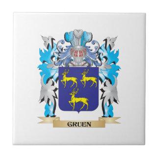 Gruen Coat of Arms - Family Crest Ceramic Tile