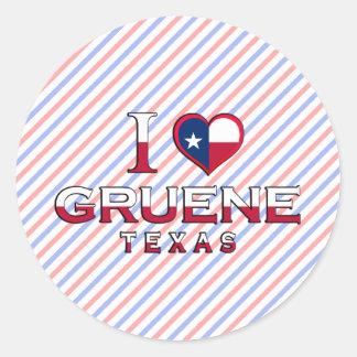 Gruene, Texas Round Stickers