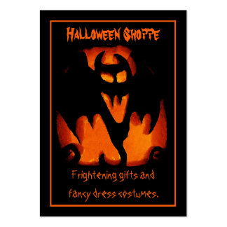 Gruesome Vampire Bat Silhouette Halloween Store Pack Of Chubby Business Cards