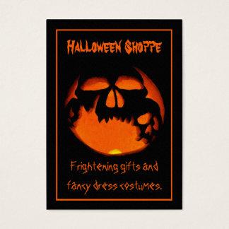 Gruesome Vampire Skulls Silhouette Halloween Store Business Card