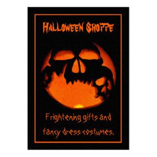 Gruesome Vampire Skulls Silhouette Halloween Store Pack Of Chubby Business Cards
