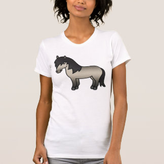 Grullo Cartoon Shetland Pony T-Shirt