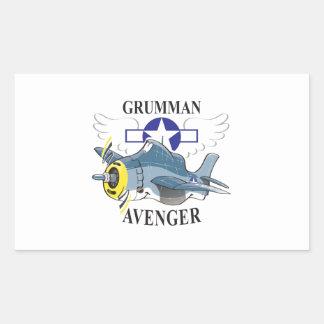 grumman avenger rectangular sticker