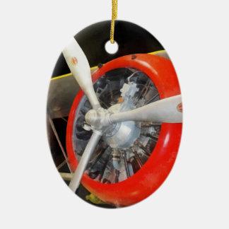 Grumman F3F-2 Biplane Ceramic Oval Decoration