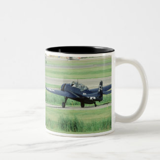 Grumman TBF/TBM Avenger Navy Carrier torpedo Two-Tone Coffee Mug