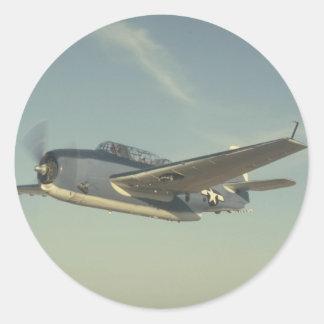 Grumman TBM Avenger Chino Air Museum Classic Round Sticker