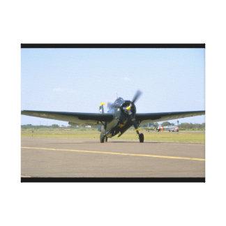 Grumman TBM Avenger, Frontal View_WWII Planes Canvas Print