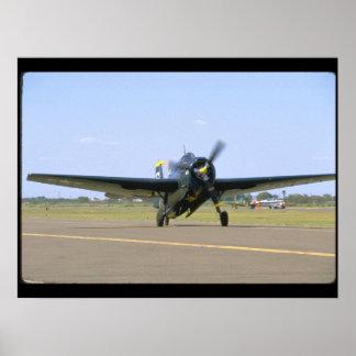Grumman TBM Avenger, Frontal View_WWII Planes Poster