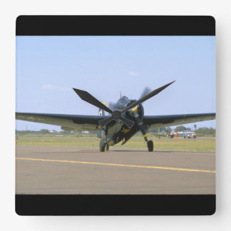 Grumman TBM Avenger, Frontal View_WWII Planes Square Wall Clock