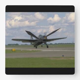 Grumman TBM Avenger, Landing_WWII Planes Square Wall Clock