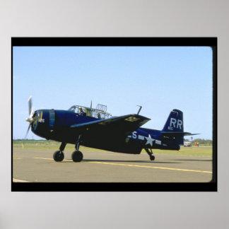 Grumman TBM Avenger, Left Front_WWII Planes Poster