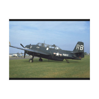 Grumman TBM Avenger, Left Side_WWII Planes Canvas Print