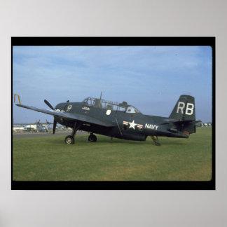 Grumman TBM Avenger, Left Side_WWII Planes Poster