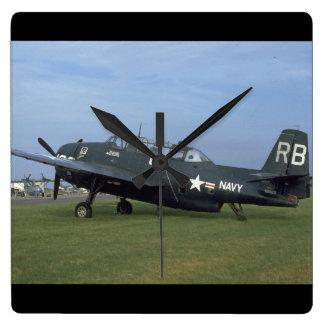 Grumman TBM Avenger, Left Side_WWII Planes Square Wall Clock