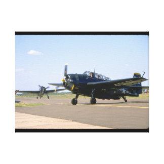 Grumman TBM Avenger. (plane_WWII Planes Canvas Print