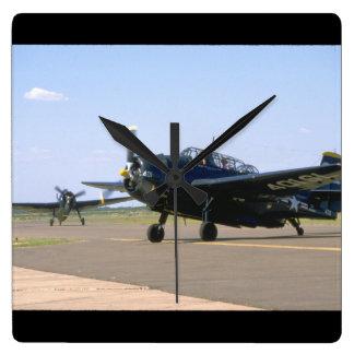 Grumman TBM Avenger. (plane_WWII Planes Square Wall Clock