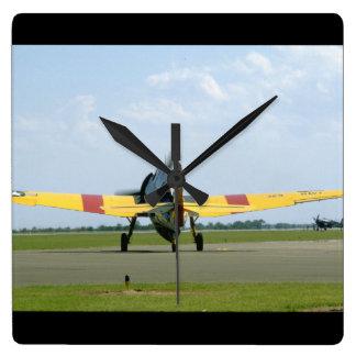 Grumman TBM Avenger, Rear_WWII Planes Square Wall Clock