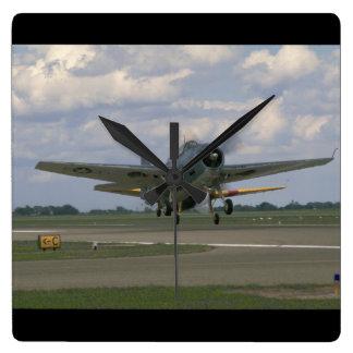 Grumman TBM Avenger, Taking Off_WWII Planes Square Wall Clock