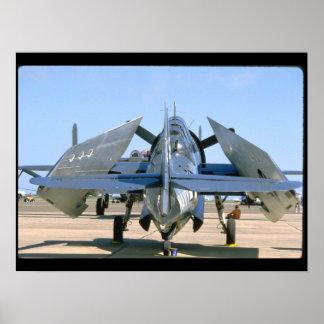 Grumman TBM Avenger, Wings Folded_WWII Planes Poster
