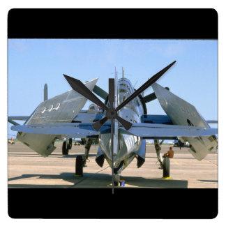 Grumman TBM Avenger, Wings Folded_WWII Planes Square Wall Clock