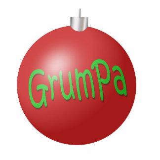Grumpa Christmas Ornament Photo Sculpture Decoration