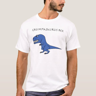 Grumpasaurus Rex Blue Textured T-Shirt