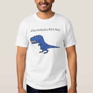 Grumpasaurus Rex Blue Textured T-shirts