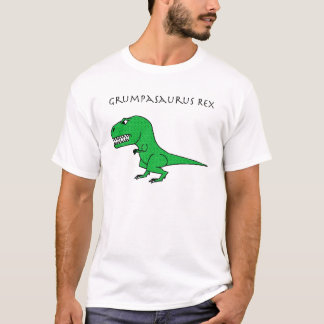 Grumpasaurus Rex Green Textured T-Shirt